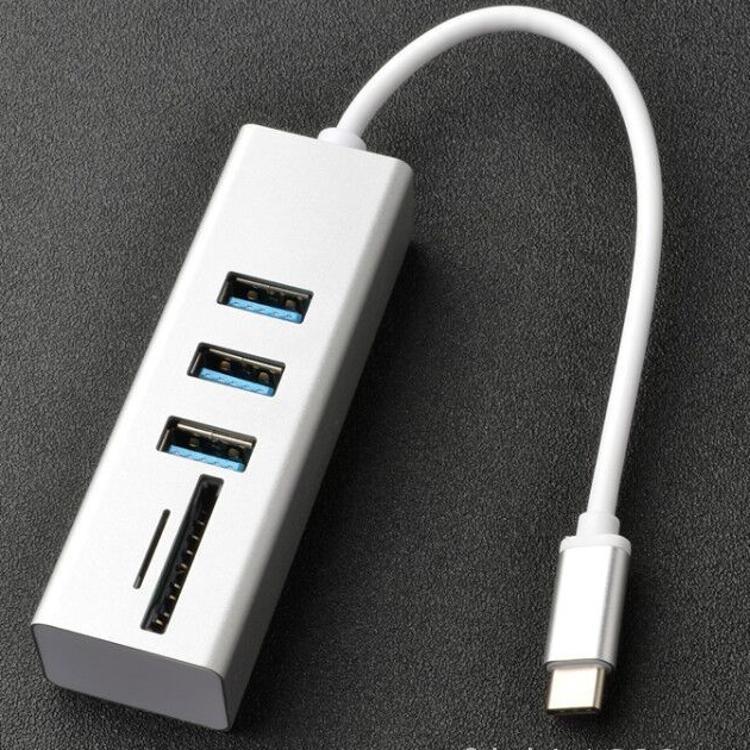 适用苹果macbook  扩展器坞 USB3.0多功能type-c hub combo集线器