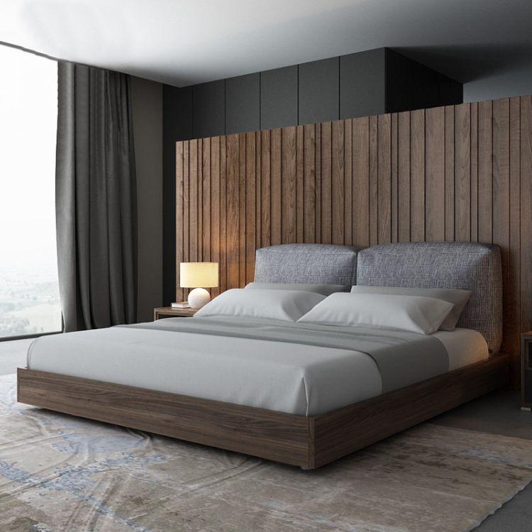 乔帝 厂家直销简约板式床1.8米双人床1.5米单人床卧室家具成套