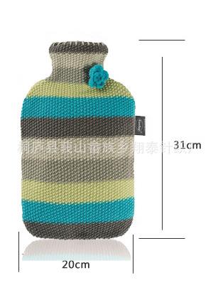 针织热水袋 提花热水袋套 保暖套 护手 针织编织品 外贸针织热水