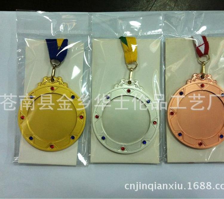 锌合金材质运动会金银铜牌厂家定做来样加工铜冲压电镀烤漆奖牌