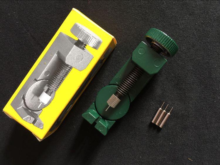 2068 金属可调高度手表拆带器 表带拆卸工具 钟表工具 绿色
