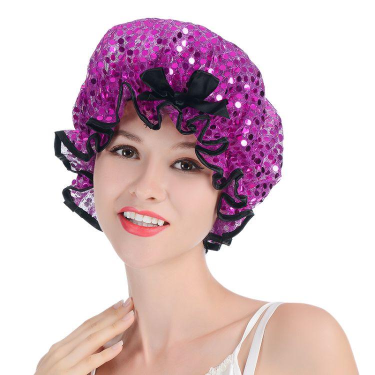 宸富顺宇浴帽女防水洗澡可爱韩国加大加厚家用双层长发成人女款可洗沐浴帽