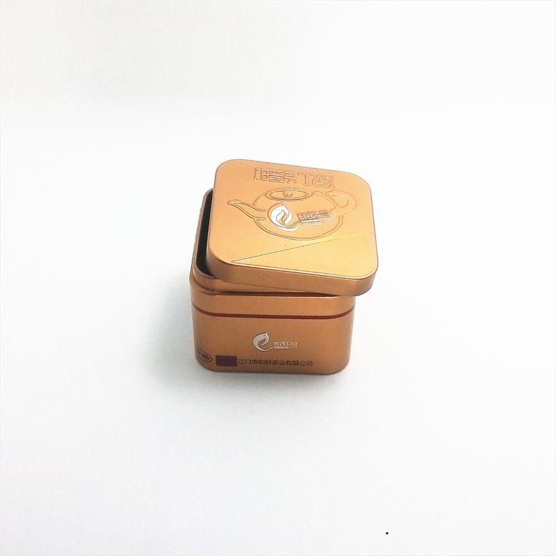 马口铁盒厂家订做 正方形75小罐茶包装铝罐 茶叶铁罐 现有模具