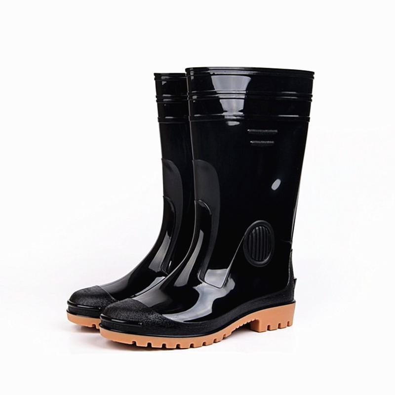 时尚男士雨鞋洗车中高筒合成橡胶劳保男雨靴子耐油耐寒防滑抗酸碱