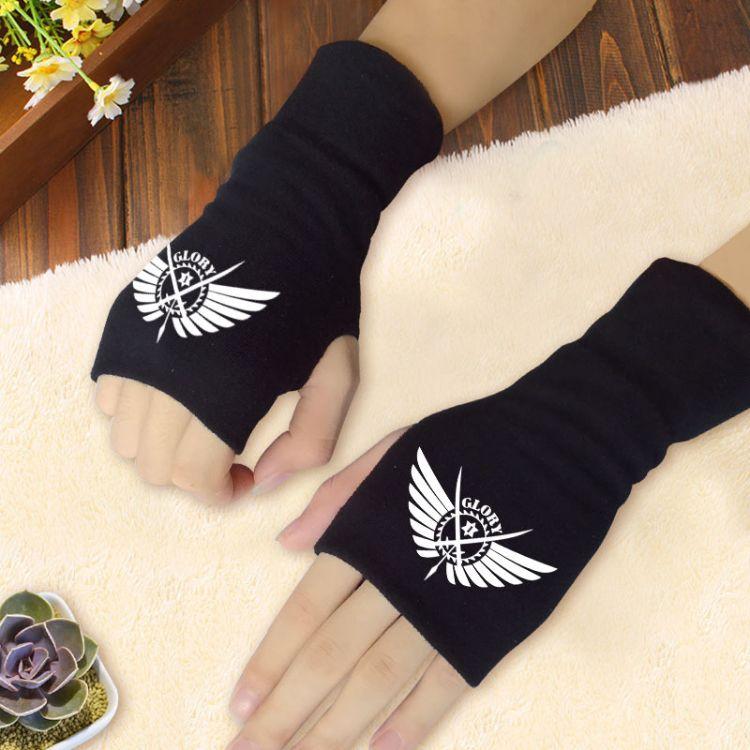 夏目魔道第五人格工作细胞动漫周边混纺棉半指拇指手套秋冬季学生