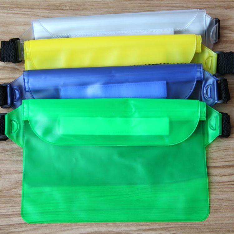 厂家批发密封手机防水袋套 游泳漂流杂物收纳袋 防水腰包