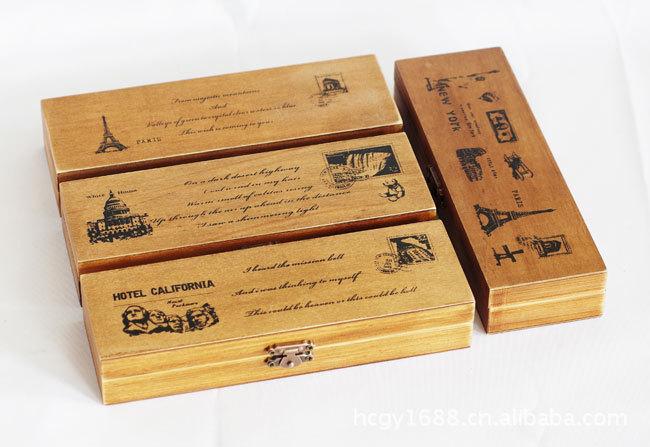 尚物坊 韩国笔盒 复古笔盒
