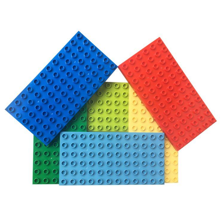 大颗粒双面积木底板6X12孔积木墙儿童益智拼插拼装DIY72孔玩具