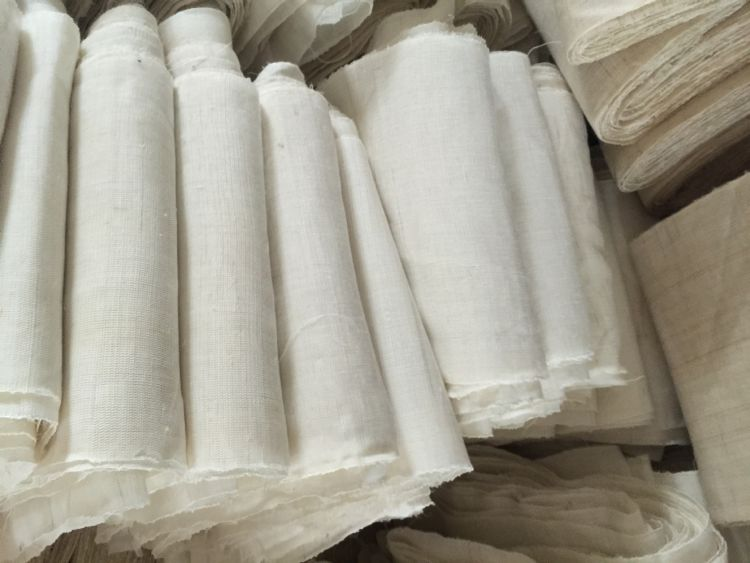 厂家直销 麻布 天然苎麻制作 麻布印花 亚麻坯布 背景布 工艺品布