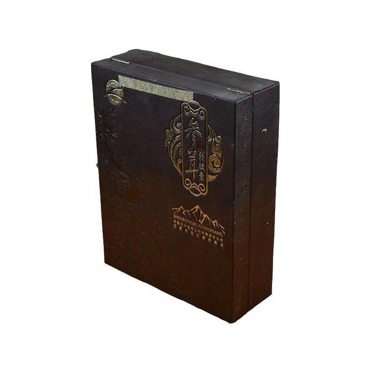 厂家定制高端西域保健品皮盒包装 养生礼盒 红色参茸滋补套装礼盒