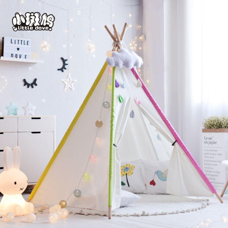 儿童帐篷室内超大游戏屋 宝宝过家家玩具屋印第安棉布帐篷
