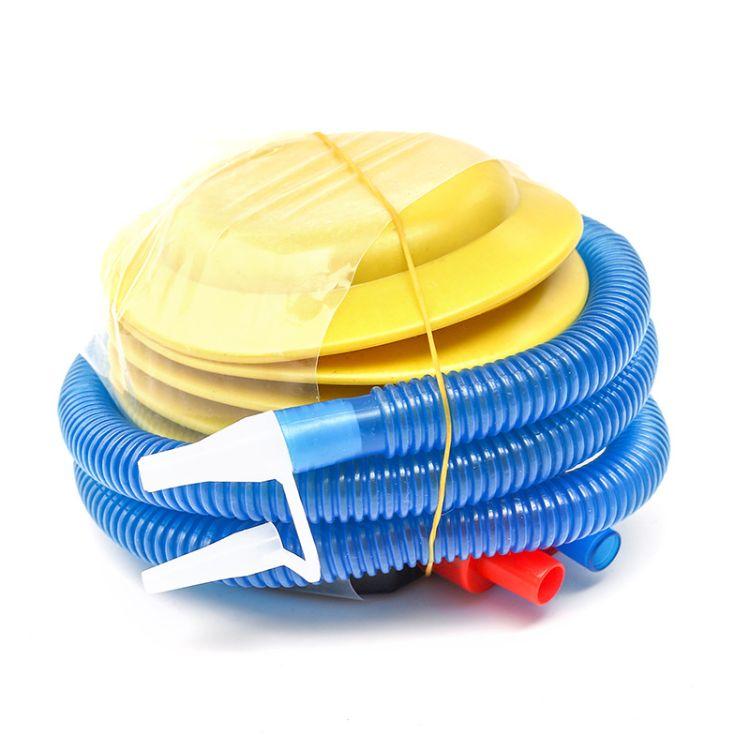 厂家批发 5寸大容量气球打气筒儿童泳池游泳圈充气泵脚踩充气筒