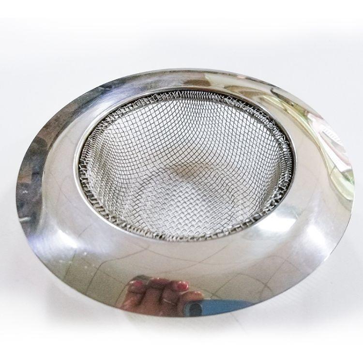 日式宽边加深加密丝网地漏厨房阳台过滤纯不锈钢201定制 厂家直销