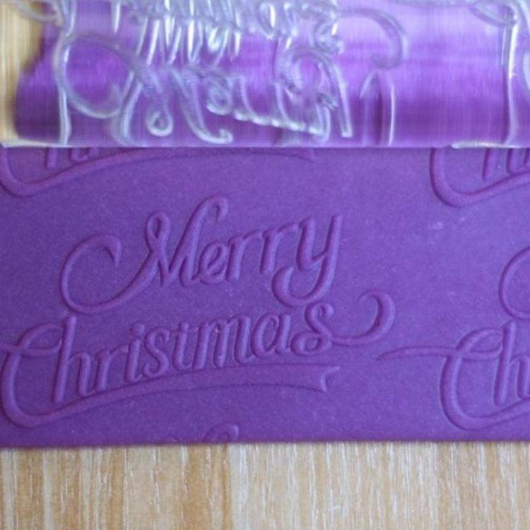Merry Chrismas 圣诞节款 中号Φ30mm  亚克力擀面杖 速卖通货源