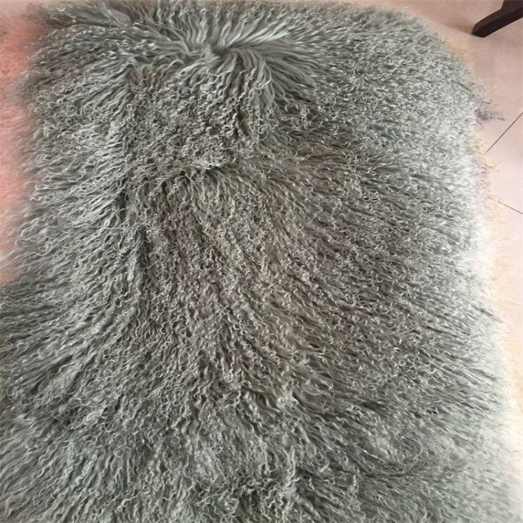 厂家直销滩羊毛褥子 滩羊毛皮草 裘皮毯子 裘皮DIY皮草辅料