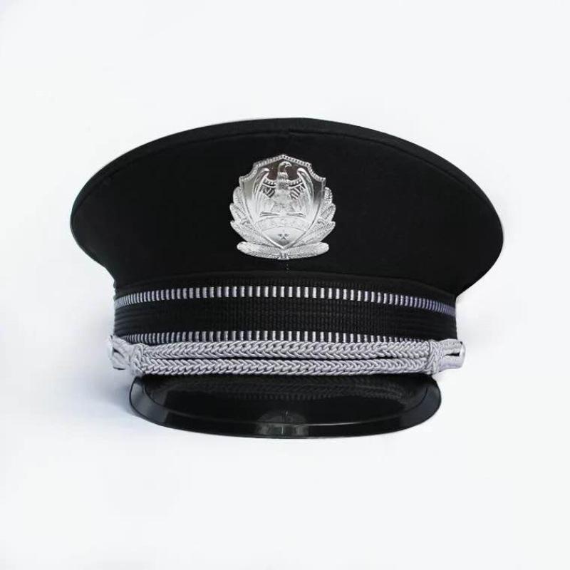 厂家批发 短檐保安帽 警察海军大盖帽表演帽聚会派对cosplay演出
