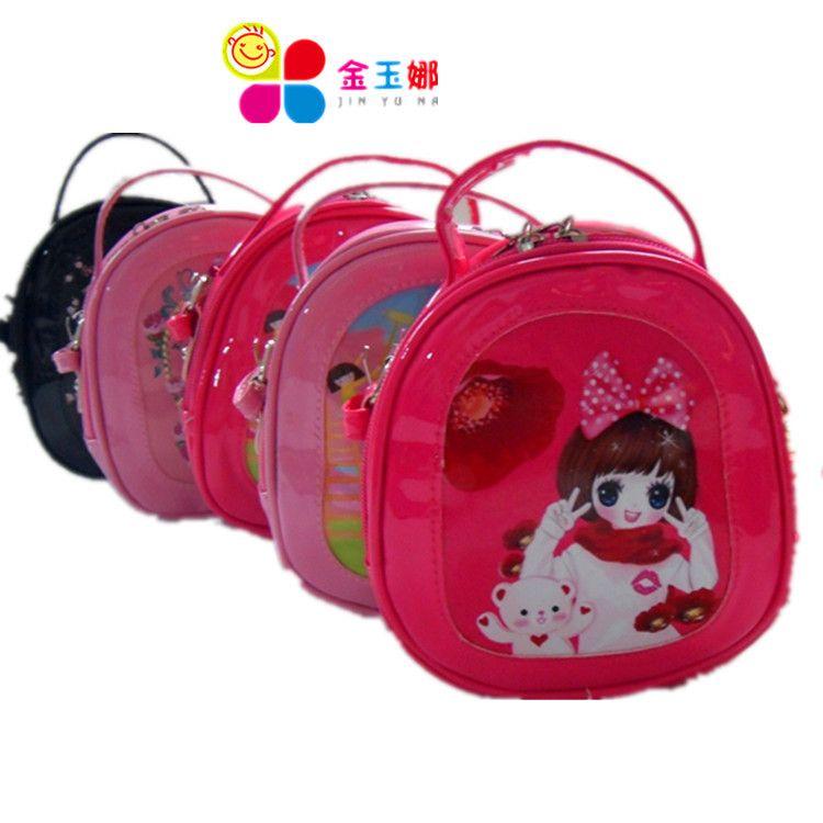 特价韩版儿童包包时尚可爱迷你斜挎包镜面印刷卡通公主包一件代发