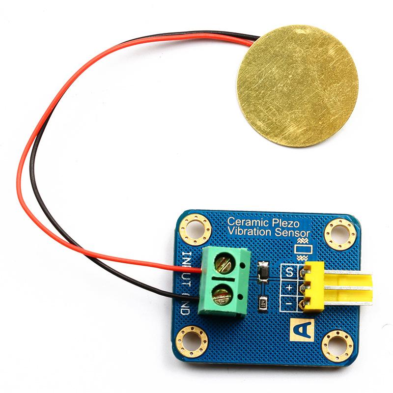 Arduino 模拟压电 陶瓷震动传感器 振动传感器 电子积木
