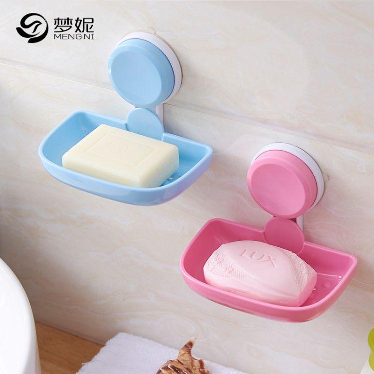 强力吸盘无痕创意单层香皂盒卫生间浴室沥水壁挂免打孔肥皂架批发