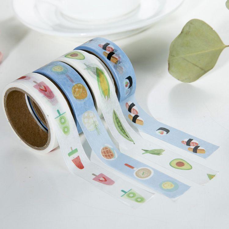 高粘和纸胶带 手帐标签贴纸胶带手撕装饰纸卡通胶袋定制批发