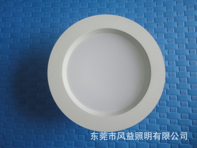 厂家直销6寸LED防眩光筒灯塑包铝筒灯外壳天花灯外壳天花灯套件