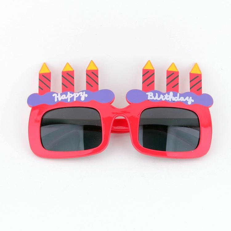 2017新款成人太阳镜 生日蛋糕蜡烛眼镜Party舞会搞怪眼镜一件代发