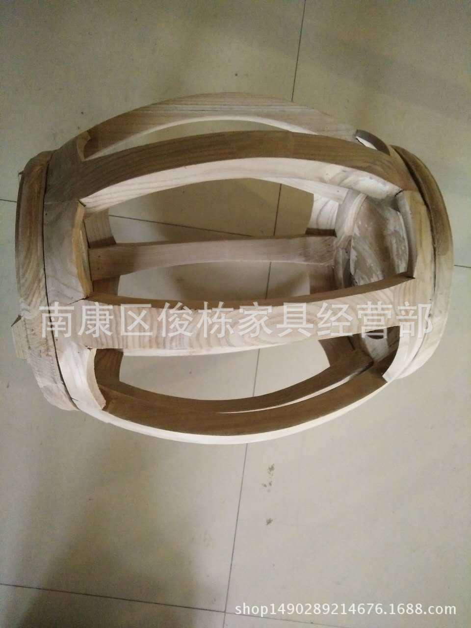 明清古典南榆木家具 仿古实木白茬鼓凳白坯小木凳子圆形厂家批发