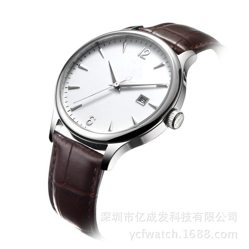 梭天经典款复古日历简约超溥腕表 商务时装防水石英手表 厂家直供