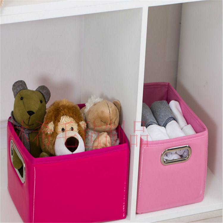可折叠儿童玩具方形收纳箱大号储物箱整理箱无盖