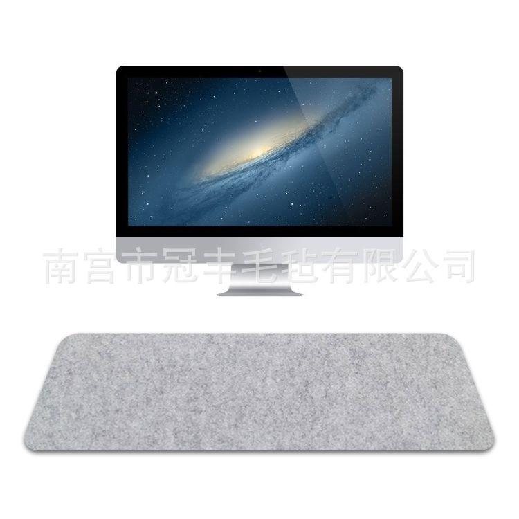 厂家直销毛毡鼠标垫 电脑桌垫  键盘垫 桌面垫 可定制 logo