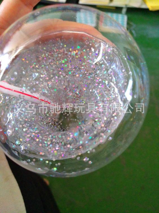厂家直销新奇特slime/putty 大宝石水晶土透明橡皮泥金粉低硼环保