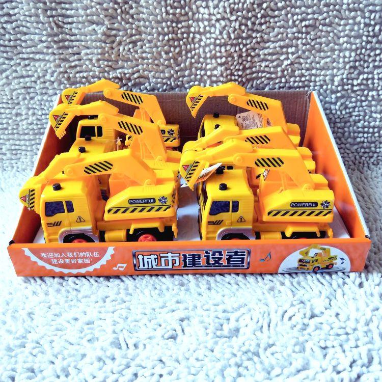 润盛5665 儿童电动玩具车 城市建设者 万向行驶 工程车 挖掘机