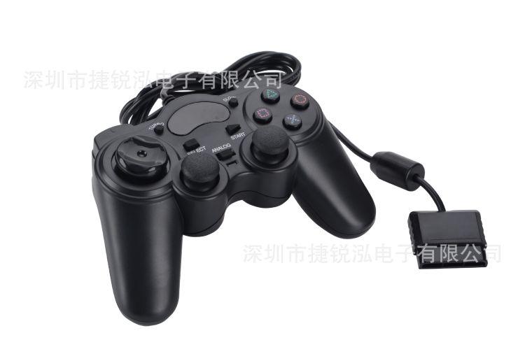 PS2双震动游戏手柄,有线手柄,工厂直销,量大从优,欢迎咨询订购
