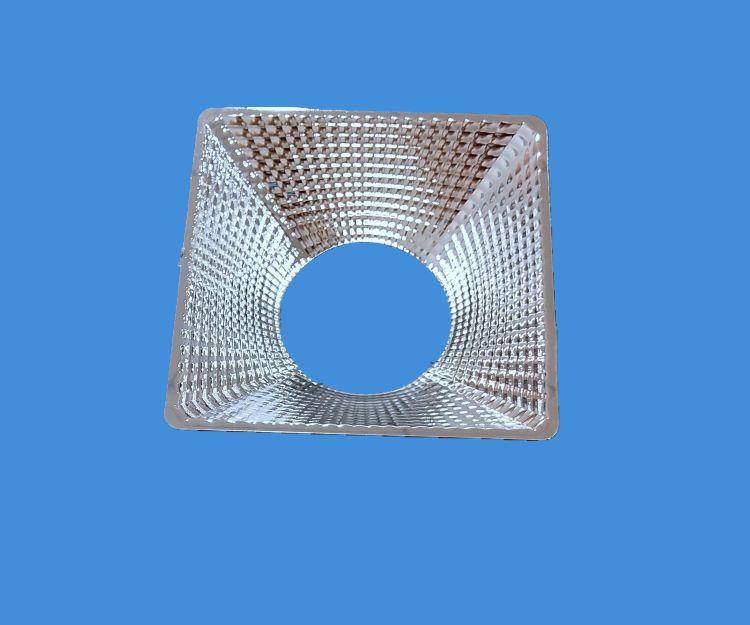 旋压厂家直销LED反光杯  压铸外壳反光杯  天花灯反光杯方形4寸