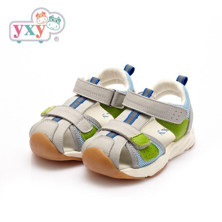 YXY2018夏季新款男女童宝宝凉鞋包头防滑软底儿童学步机能鞋2-4岁