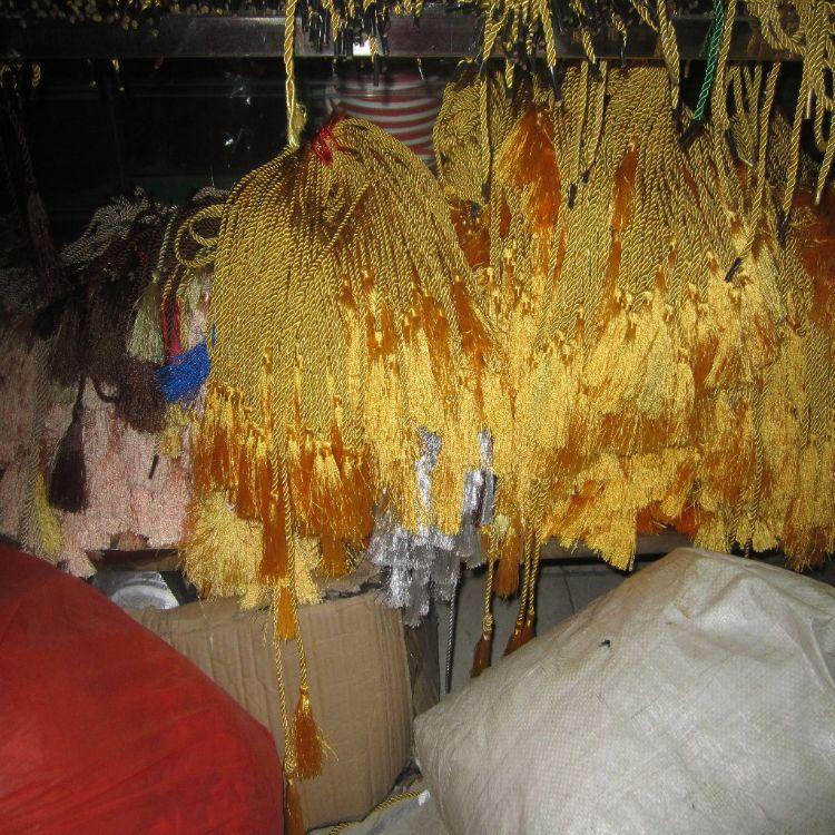 厂家生产 绳子吊穗 手袋 涤纶丝光吊穗手挽绳 单头 双头