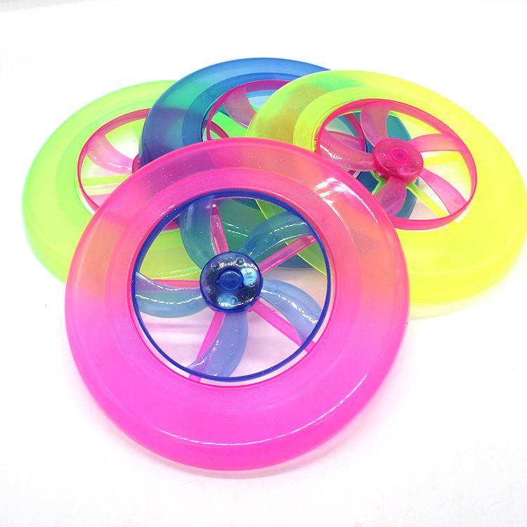 发光沙滩飞盘 彩色回旋飞碟 儿童户外玩具