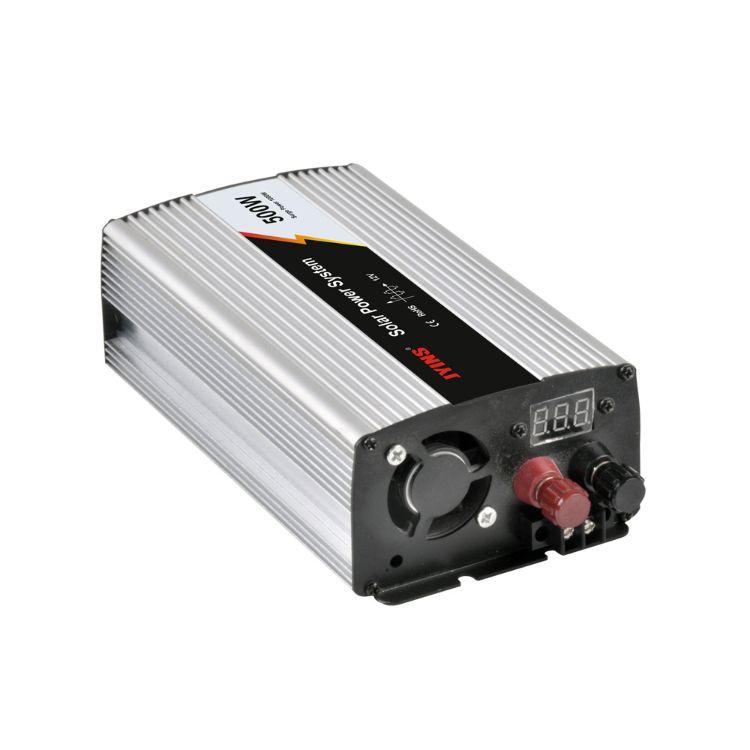 厂家直销爆款纯正弦波12V转110V/220V足功率500W太阳能逆控一体机