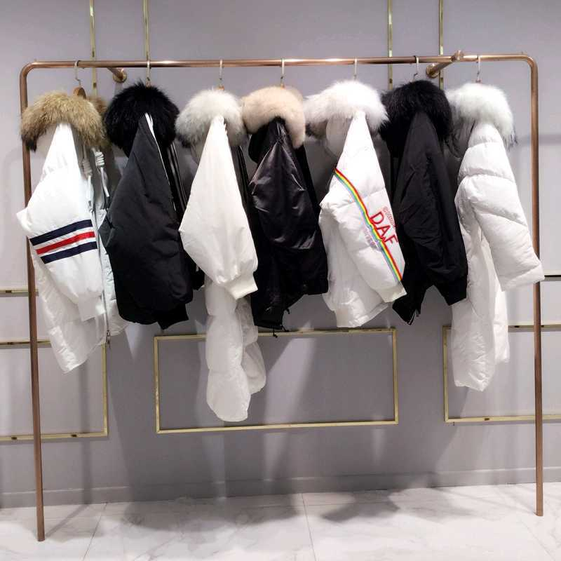 独立设计师原创女装 羽绒服女19新款中长款爆款 羽绒服女长款过膝