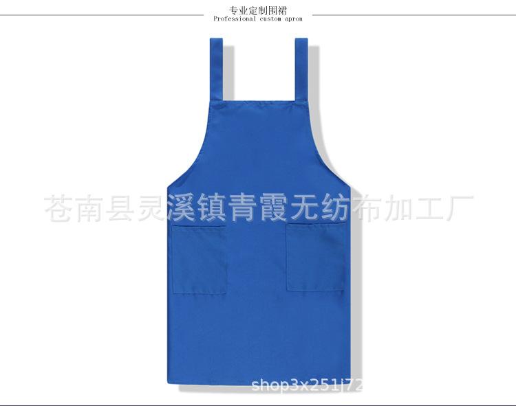 厂家批发 厨房防水防油双肩围裙 烘焙餐厅咖啡厅火锅店工作服定制