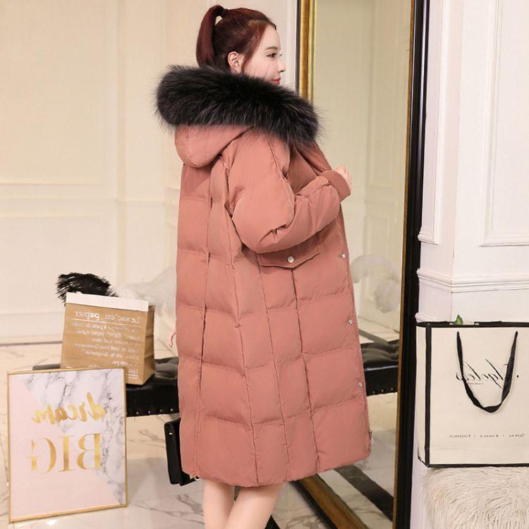 2019冬季新款品牌折扣女装ins面包服羽绒棉服中长款韩版百搭棉衣棉袄批发