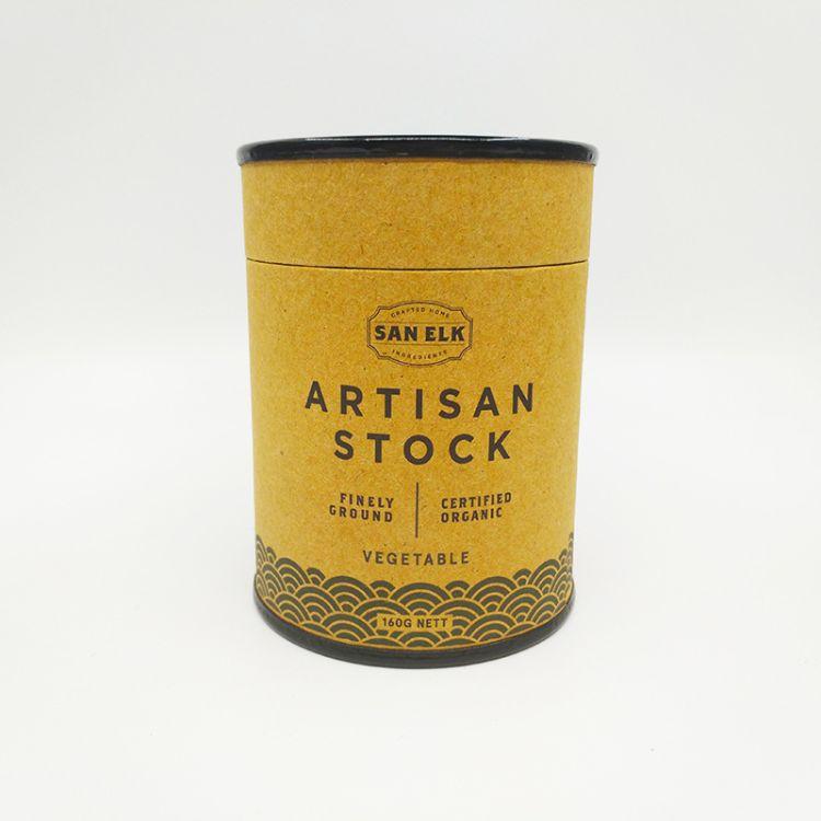 花茶包装纸管 日用品食品茶叶密封罐 圆形牛皮纸筒定做
