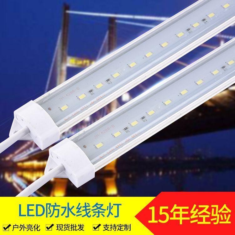LED户外照明线条灯 经济款2835白光暖白黄光彩色线条灯