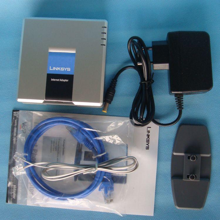 批发linksys spa2102 双口语音网关 voip 电话机 支持T.38