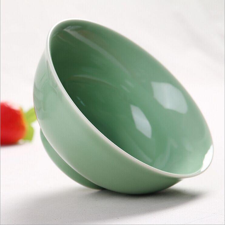 《爆款热卖》青瓷碗餐具套装陶龙泉瓷碗10头粉青直口碗品质直销