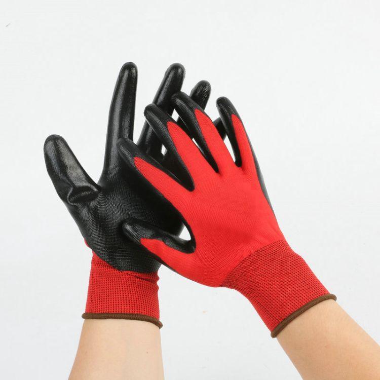 劳保工业防护手套耐磨劳保PU手套 防护防滑PU涂掌防割