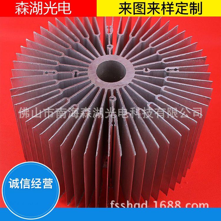 厂家直销 led工矿灯散热器 外径255MM大功率工矿灯散热器 批发
