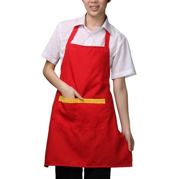 成都围裙 围腰批发生产厂家 涤纶 家务清洁洗碗围腰 广告围裙