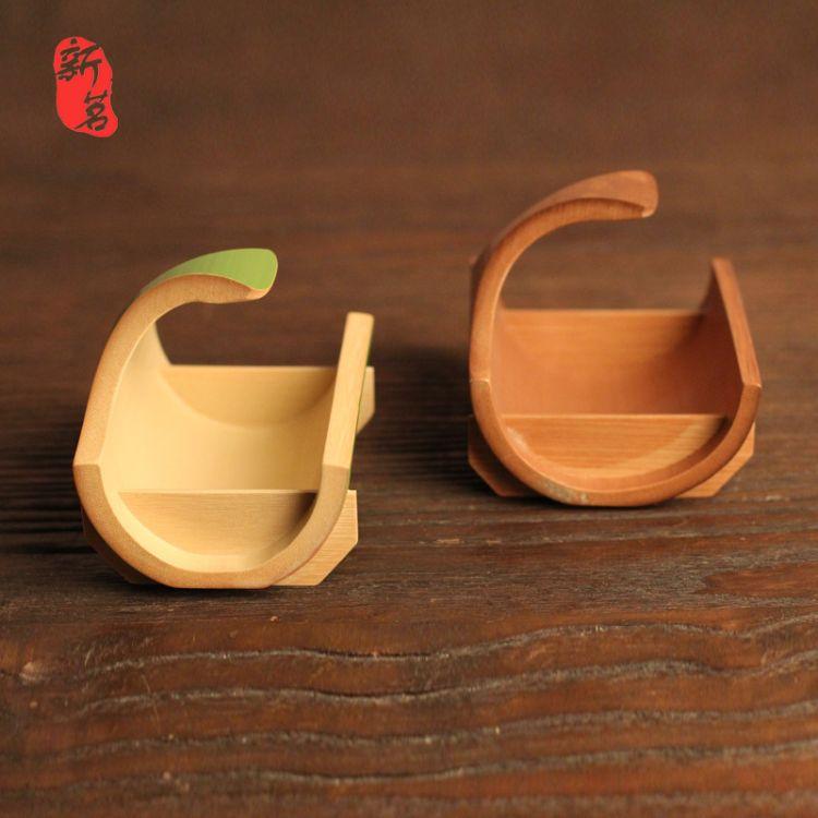 和风食盘 船型竹茶点盘 手工天然高档田园果篮盛物小竹蓝出口日本