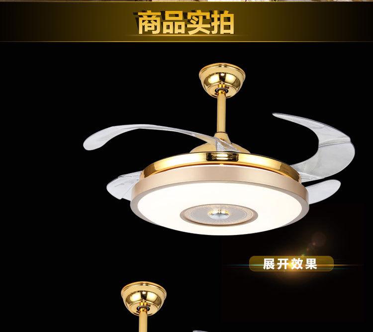风之缘厂家蓝牙音乐风扇灯现代隐形吊扇灯客厅餐厅卧室LED吊灯